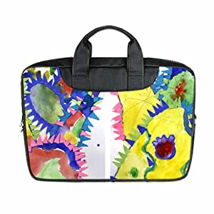INSTALL AND EASY TO CARRY Wear& Slim &Dapper Cactus Art Custom Waterproof Nylon Bag for Laptop 13Inches(Twin sides)