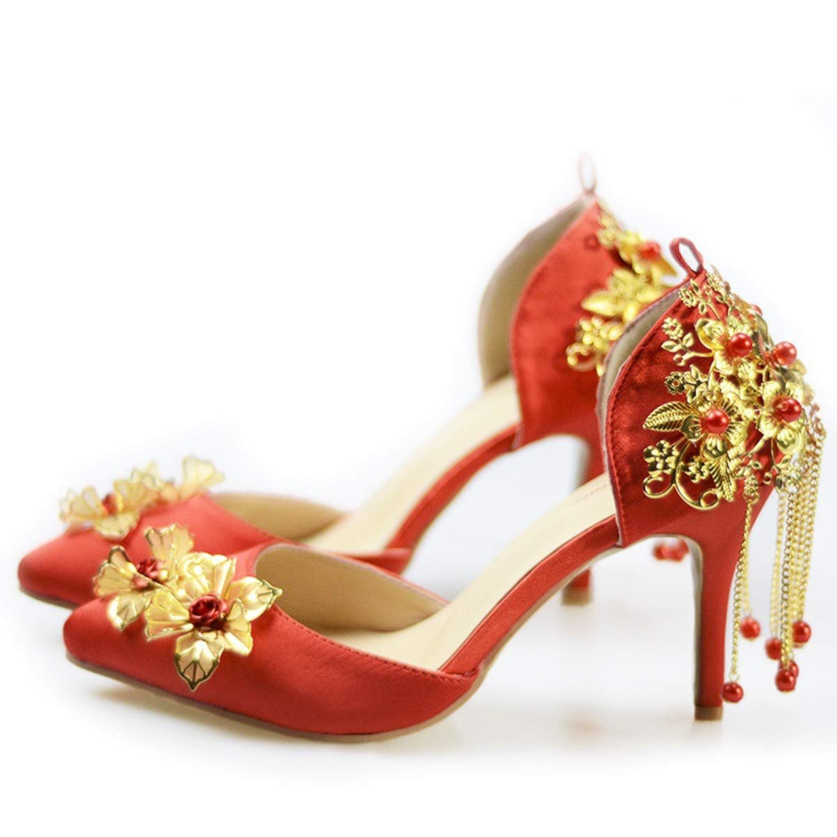 KPHY Damenschuhe/Hochzeit Schuhe Sandaleen Frauen - Einzel Fransen Rote Tipps