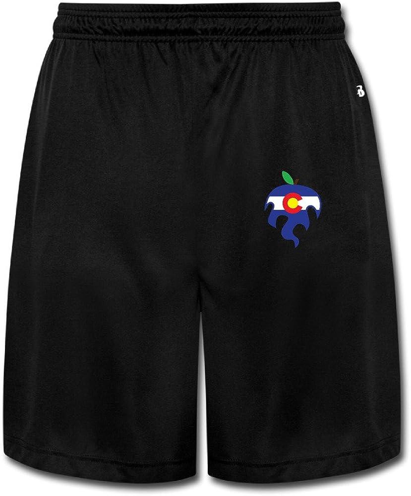 JUN J Colorado Apple Short Training Running Pants For Men's Black