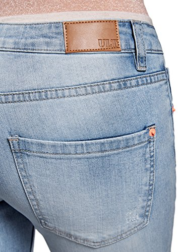 Effetto Con Fit Ultra Donna Oodji Blu Invecchiato 7000w Slim Jeans wYq4nvg