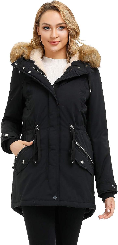Ladies New Red Jacket Gold Zips Pockets Fur Trim Hood Padded Parker Girls Women