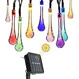 Garland Light Strip con LED del pannello solare di luce ambientale decorazione di illuminazione per il Natale Mairage House Garden Outdoor (30 Gocce 6M policroma)