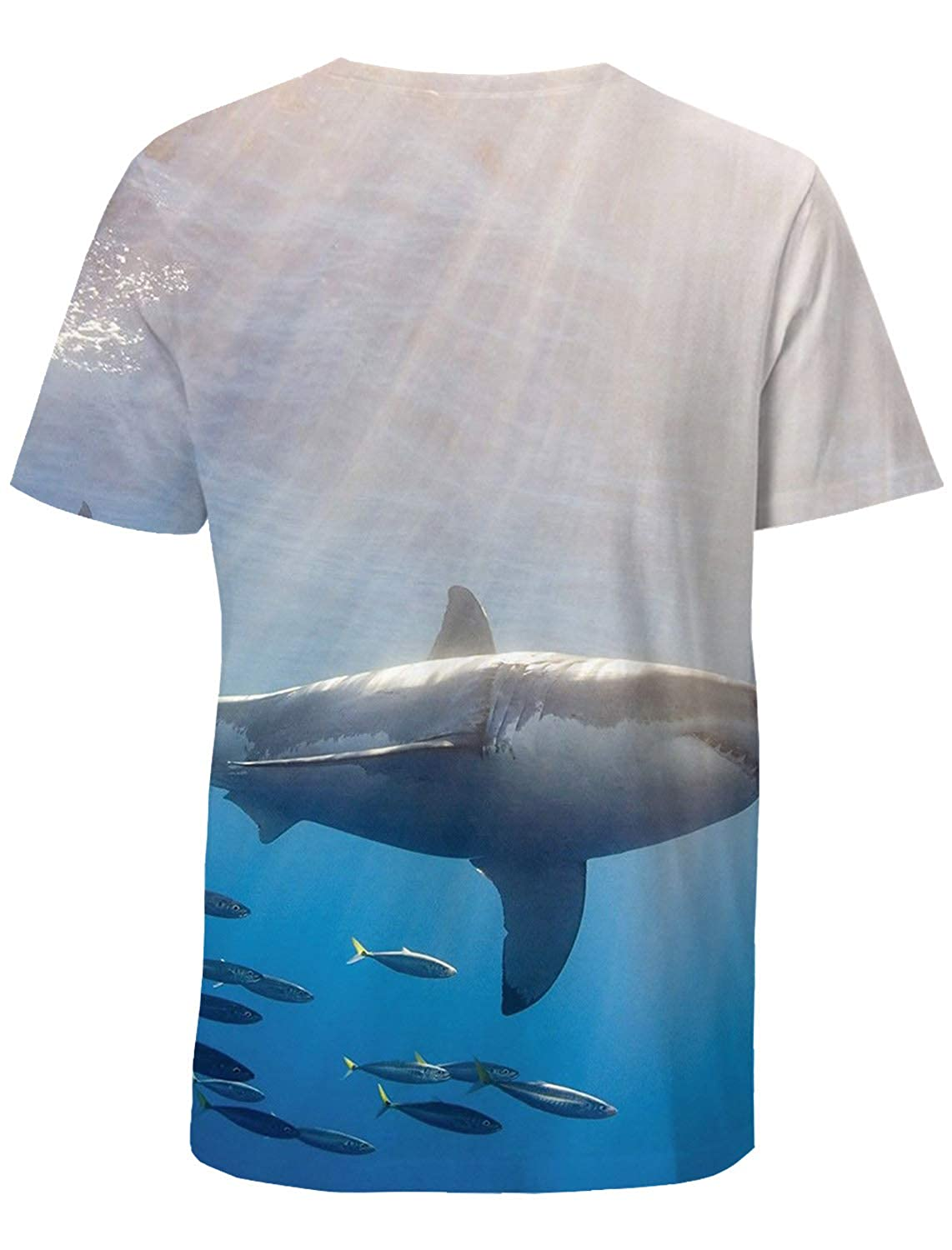 Casual 3D Printed T-Shirt Polyester Short Sleeve Tops for Men