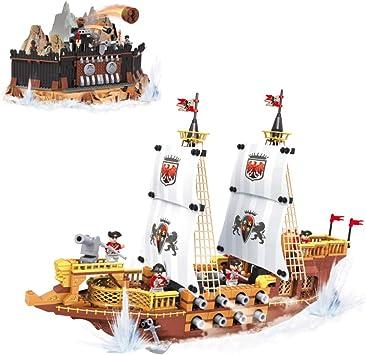 Ausini-Juego de bloques construcción fortín pirata y barco realeza, 850 piezas, multicolor, (Colorbaby 42859) , color, modelo surtido: Amazon.es: Juguetes y juegos