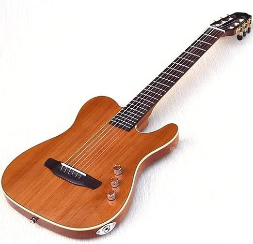 LOIKHGV Guitarras- Guitarra clásica silenciosa de Cuerpo Delgado ...