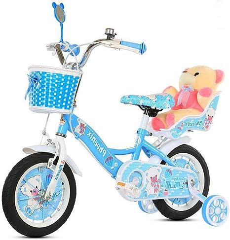 Daxiong Bicicleta de niña Rosa Bicicleta de Ejercicio en el ...