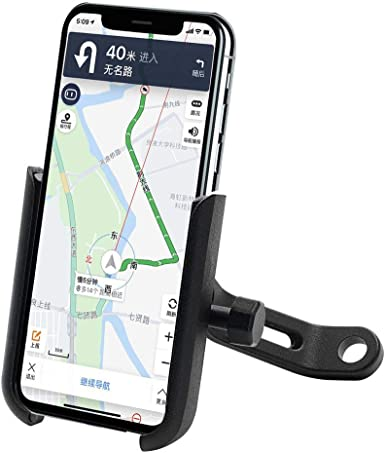 Aluminum Alloy Bicycle /& Motorcycle Cell Phone Mount Holder with 360/° Rotation for Phones 4-6.5 Inch Black Phone Holder for Bike