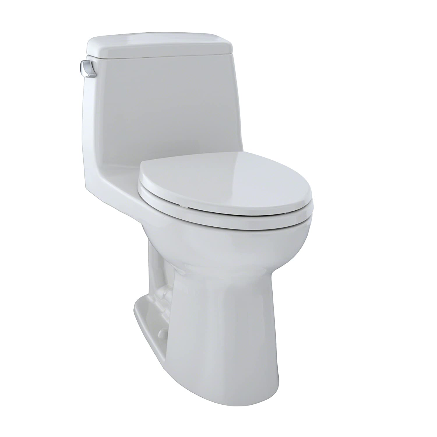 TOTO MS854114EL#11 Eco Ultramax ADA Elongated One Piece Toilet, Colonial White