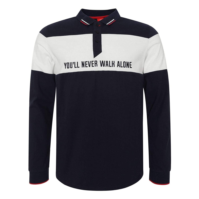 Liverpool FC Mens Football YNWA Block Long Sleeve Polo Shirt SS19 LFC Official