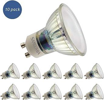 Sanlumia Bombillas LED GU10, 9W=100W Halógena, 845Lm, Blanco Cálido (3000K), 110 ° ángulo de haz, Iluminación de Techo para Cocina, Oficina, o Baño, Paquete de 10: Amazon.es: Iluminación