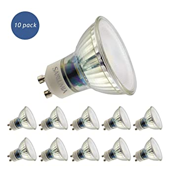 Sanlumia Bombillas LED GU10, 9W=100W Halógena, 845Lm, Blanco Frío (6400K