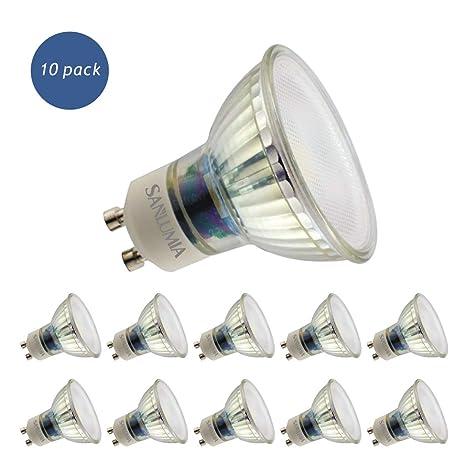 Sanlumia Bombillas LED GU10, 9W=100W Halógena, 845Lm, Blanco Neutro (4000K), 110 ° ángulo de haz, Iluminación de Techo para Cocina, Oficina, o Baño, ...