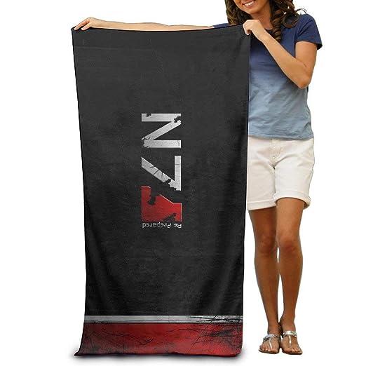 Monicago Toallas de Playa Toallas Adult Mass Effect N7 Logo Absorbent Quick Dry Pool Bath Travel Beach Towel Blank Blanket Extra Large Long 31x 51 Bath Towel 80cm X 130cm Beach Towel