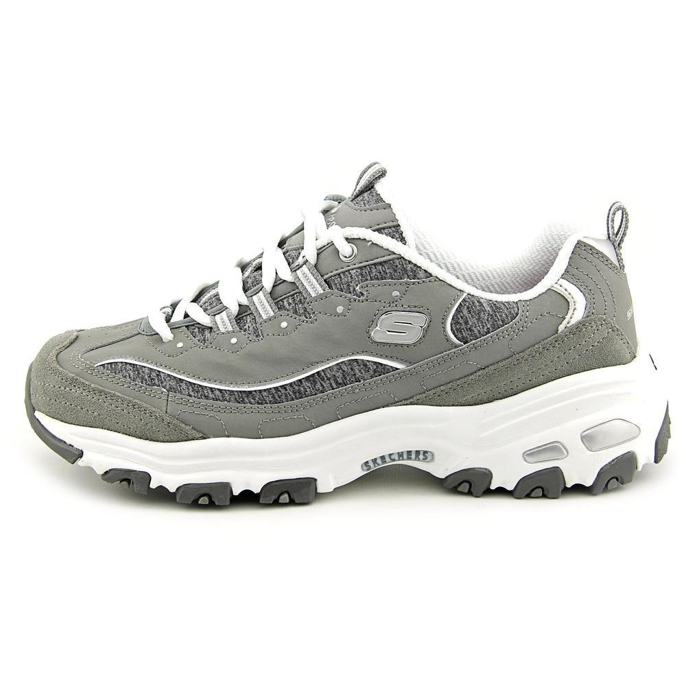 127ce8d0 Skechers Zapatillas con cordones de espuma viscoelástica D Lites para mujer  Gry / Wht