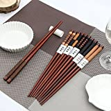 6 Pairs Natural Wood Handmade Japanese Chopsticks Value Dinner Reusable Gift by AHG