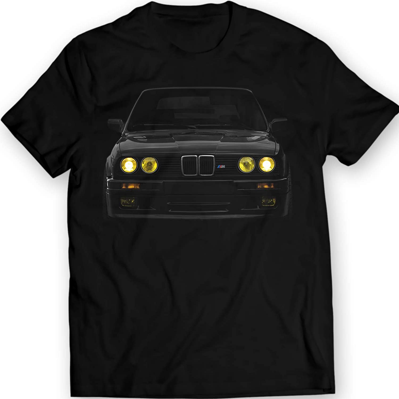 DTG Printing E30 Yellow Faros Camiseta Mpower Bimmer 100% Algodón