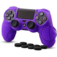 CHINFAI PS4 Controller DualShock4 Skin Grip Anti-Slip Silicone Cover Protector Case for Sony PS4/PS4 Slim/PS4 Pro…