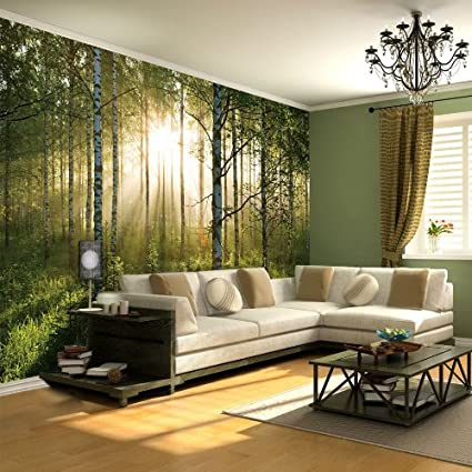 new wallpaper mural forest trees photo wall paper poster living roomnew wallpaper mural forest trees photo wall paper poster living room bed murals amazon co uk kitchen \u0026 home
