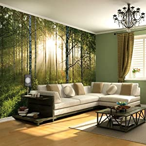 NEW WALLPAPER MURAL FOREST TREES PHOTO WALL PAPER POSTER ...