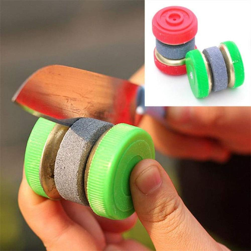 Sharpening Stone - 1 Pc Mini Knife Sharpener Stone Abrader Two Grinding Wheels Sharpening - Dresser Lawn Travel Slip Bundle Glass Swords Pers Case King Knives Chain Course Scouts 6000 Machi