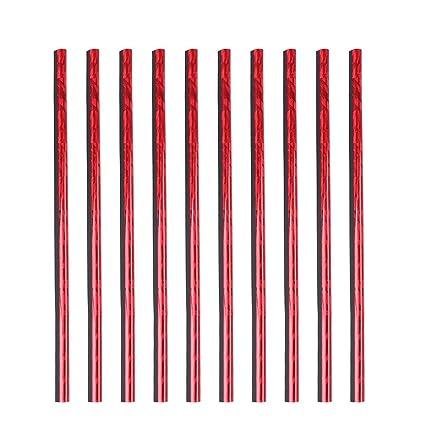 X AUTOHAUX 10pcs Ice Red Car Air Conditioning Outlet Vent Grille Rim Moulding Trim Strip