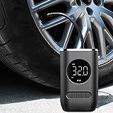Mini compressor de ar portátil com bateria recarregável de 4000 mAh, bomba de pneu sem fio 150psi, luz de emergência LED, bom