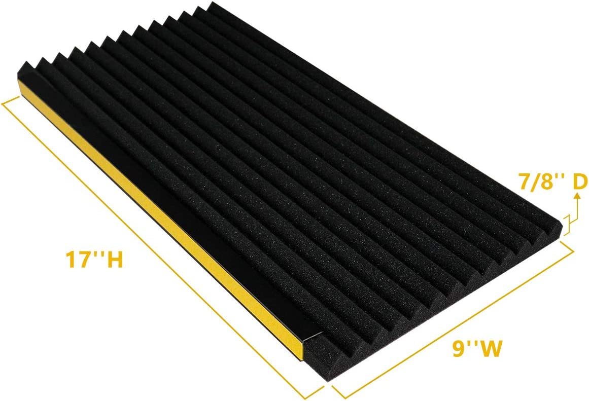 2 Pack,Black AC Side Insulating Panel Kit 17in High x 9in Wide x 7//8in Thick LBG Products Window Air Conditioner Foam Insulation Panels