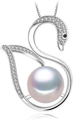 MMC Fashion Brand Stone Pearl Silver Pendants Necklaces