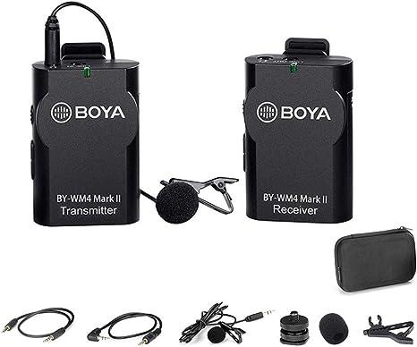 BOYA 2.4GHz Wireless Lavalier Lapel Mic, Sistema de micrófono ...