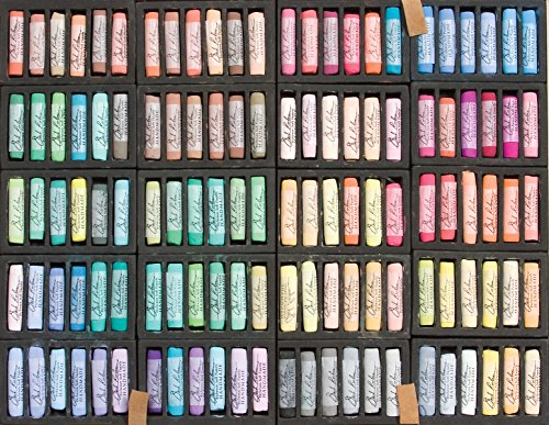 Jack Richeson Handmade Soft Pastels in a Wooden Box, 120 Assorted Colors by Jack Richeson