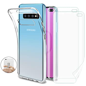Younme Funda para Galaxy S10 Plus, Carcasa Transparente ...