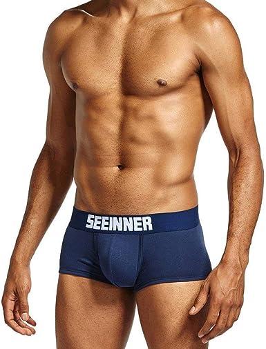 Boxer Shorts Hombres Boxer para Hombre Slip Moda Hombres Ner ...