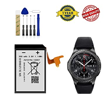 for Samsung Gear S2 3G Smartwatch SM-R735T Replacement Battery EB-BR730ABE Free Adhesive Tool