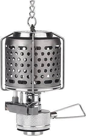 Lixada Farolillo de camping gas portátil, tamaño pequeño, se puede colgar, para tienda de campaña, metal, butano, 80 lux