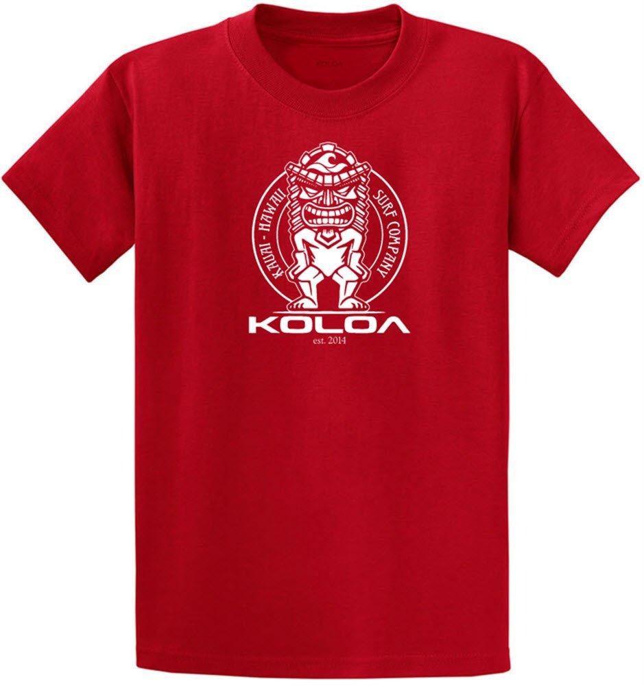 (コロア) Koloa サーフティキのロゴコットンTシャツ レギュラー ビッグ トールサイズ B074DCDFZK L|Red White Logo Red White Logo L