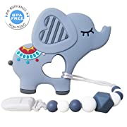 Baby Teething Toys | Baby Teether Toys with Teether Pacifier Clip | BPA-Free Molar Teether Toys | Best