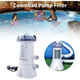 530 GPH Pump Flow Rate Lancei Filter Pump For Swimming Pool Cartridge Filter Pump Pool Pump Filter Summer Pool Water Cleaning Kit for Above Ground Pools