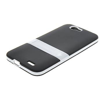 MOONCASE Huawei G7 Case Jelly color Funda Carcasa TPU Gel Tapa Case Cover para Huawei Ascend G7 Negro
