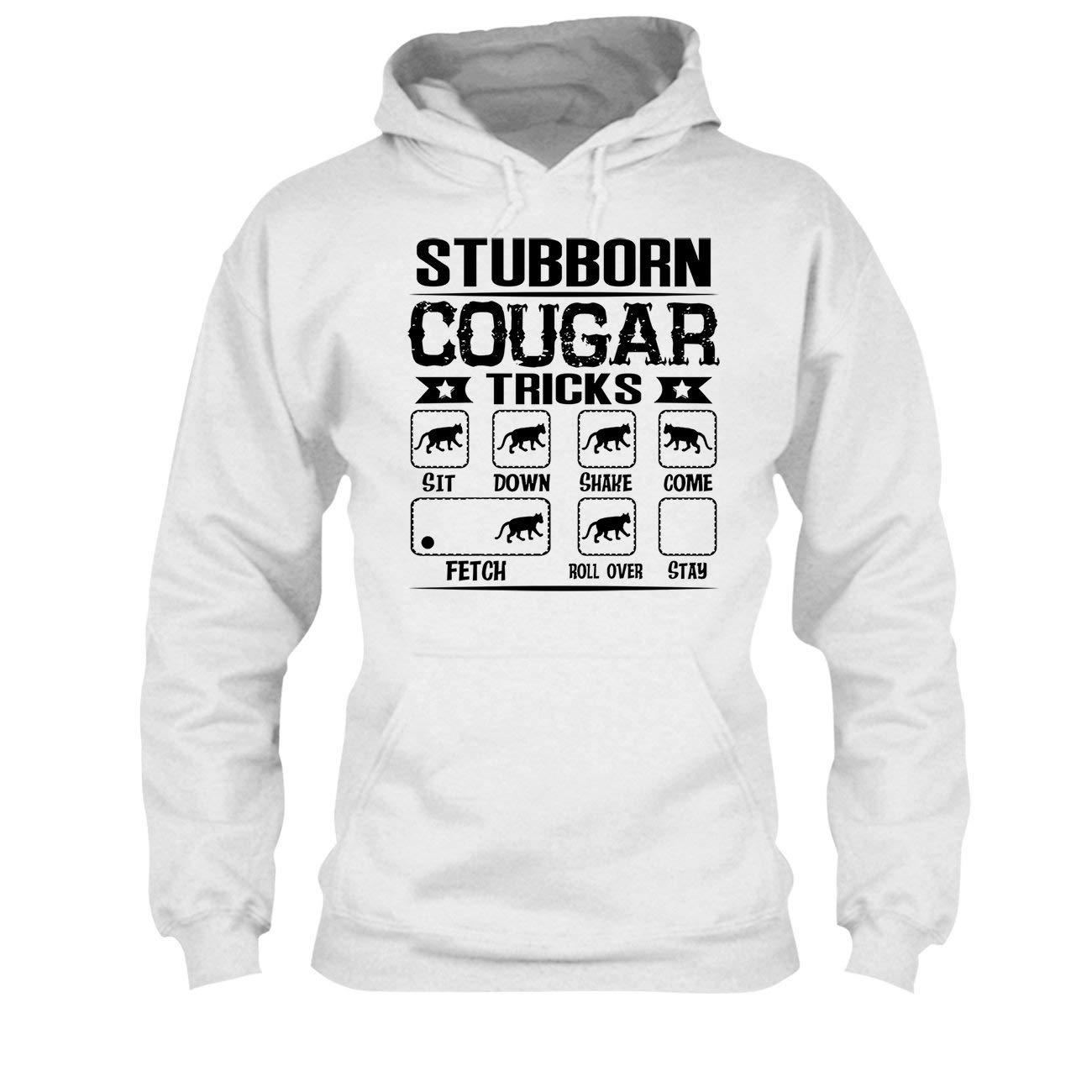 Stubborn Cougar Tricks Tee Shirt Design Long Sleeve Shirt