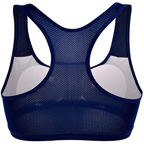 Libella - Sujetador deportivo - Básico - para mujer Streifenapplikation-Blau