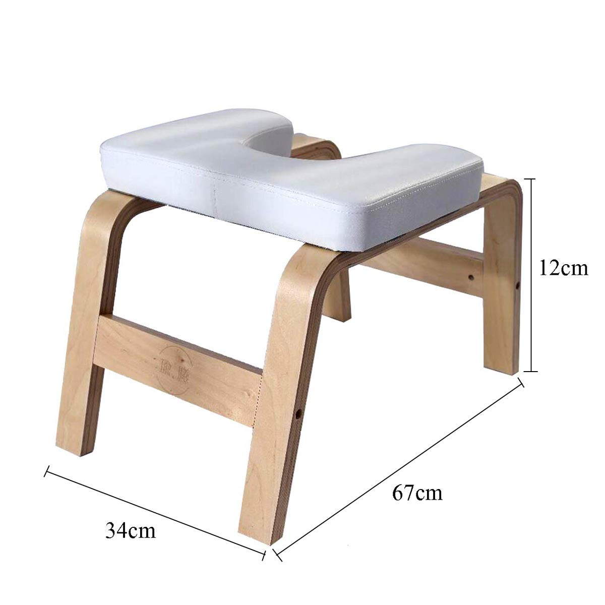 Amazon.com: Znds Wooden Headstand Bench Yoga Chair, Fitness ...