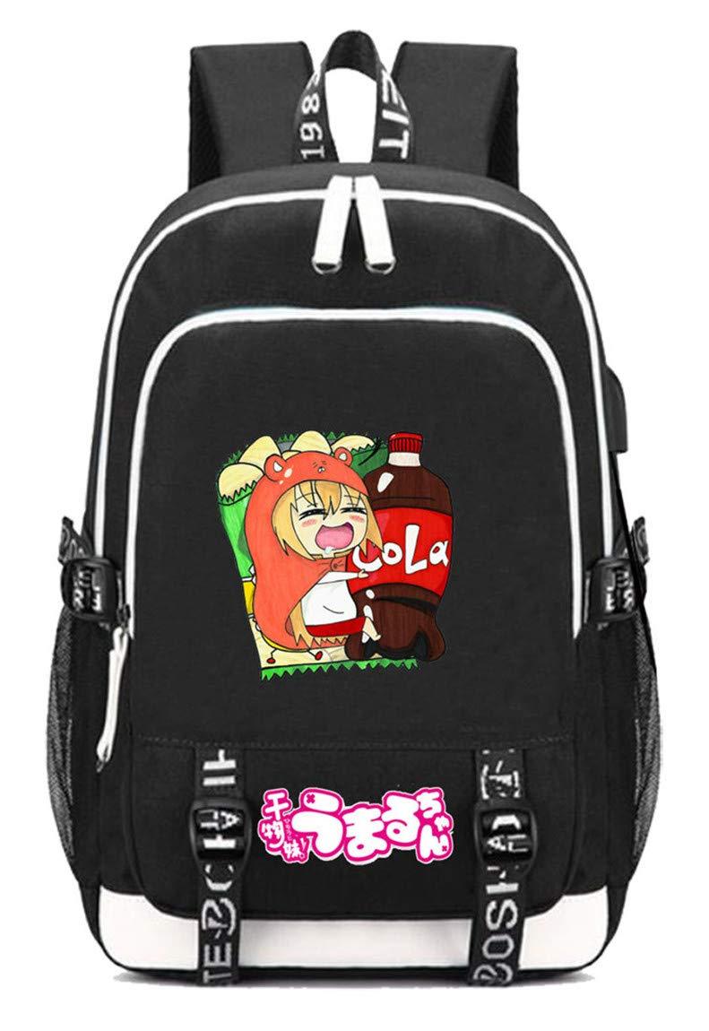 Himouto  Umaruchan  5 Cosstars Himouto  Umaruchan Anime Rucksack Schoolbag Laptop Backpack with USB Charging Port and Headphone Jack  7