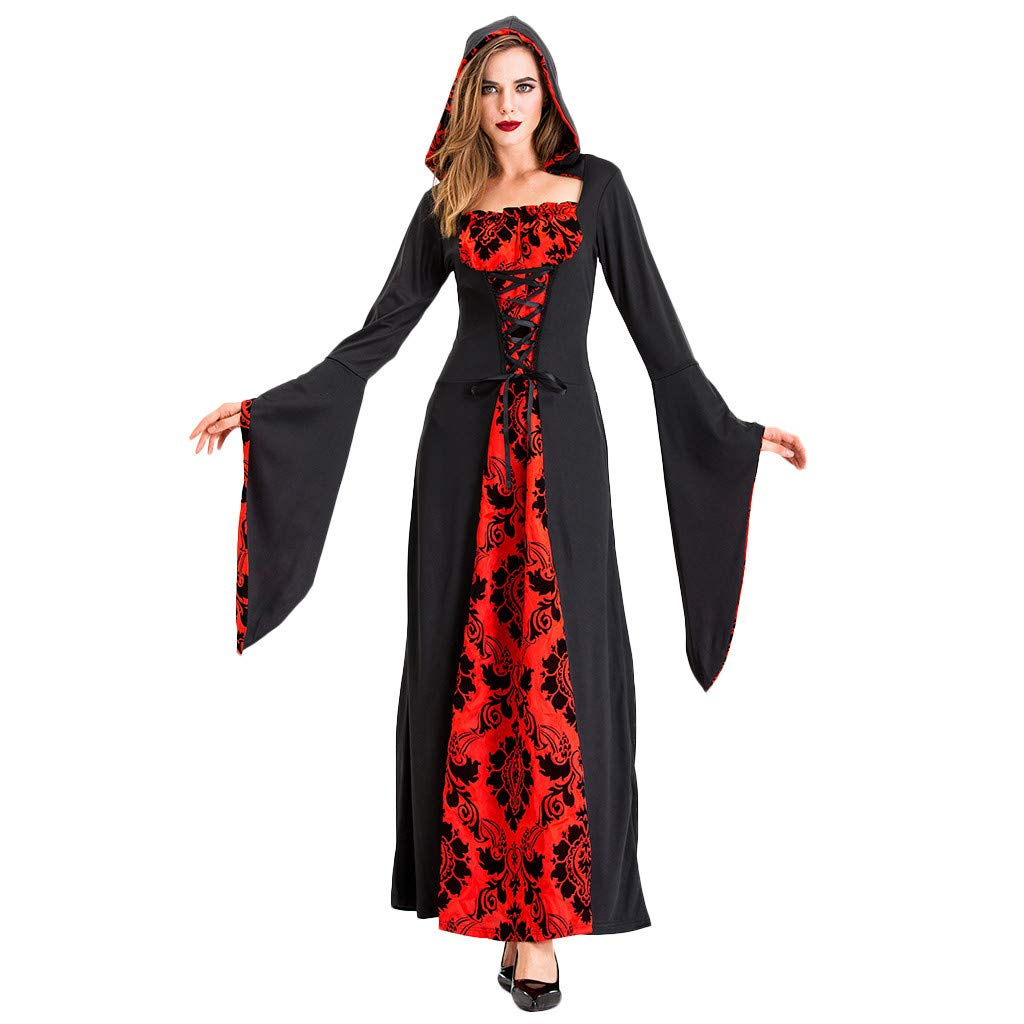 Sexy Halloween Costumes for Women, Yezijin Women Halloween Cosplay Devil Costumes Witch Vintage Middle Ages Death Dress by Yezijin Halloween
