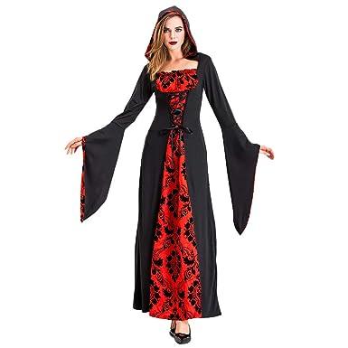 Disfraz de Bruja para Halloween, Disfraz de Diablo, Negro, para ...