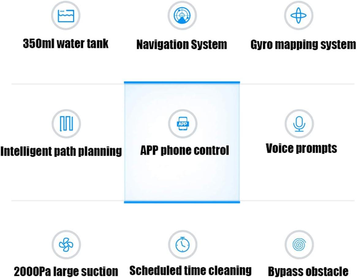 Robot de nettoyage Accueil Complet Smart aspirateur/interconnexion de téléphone Portable/Balayage / Drag Humide/Adapter à Une variété de Plancher/Tapis / 2000Pa B