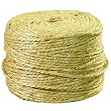 Partners Brand PTWS970 Sisal Tying Twine, 3-Ply, Natural, 970'