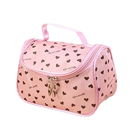 804db29d2416 edited Travel Cosmetic Bag Case Heart Print Organizer Makeup Beauty Brush  Toiletry Bag Cosmetic Bags