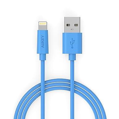 def1cdfb895 Aukey [Apple MFi Certificado] Cable USB,Cable de datos,Cable de  carga,Cargador Cable,Cable de conexión (conector ...