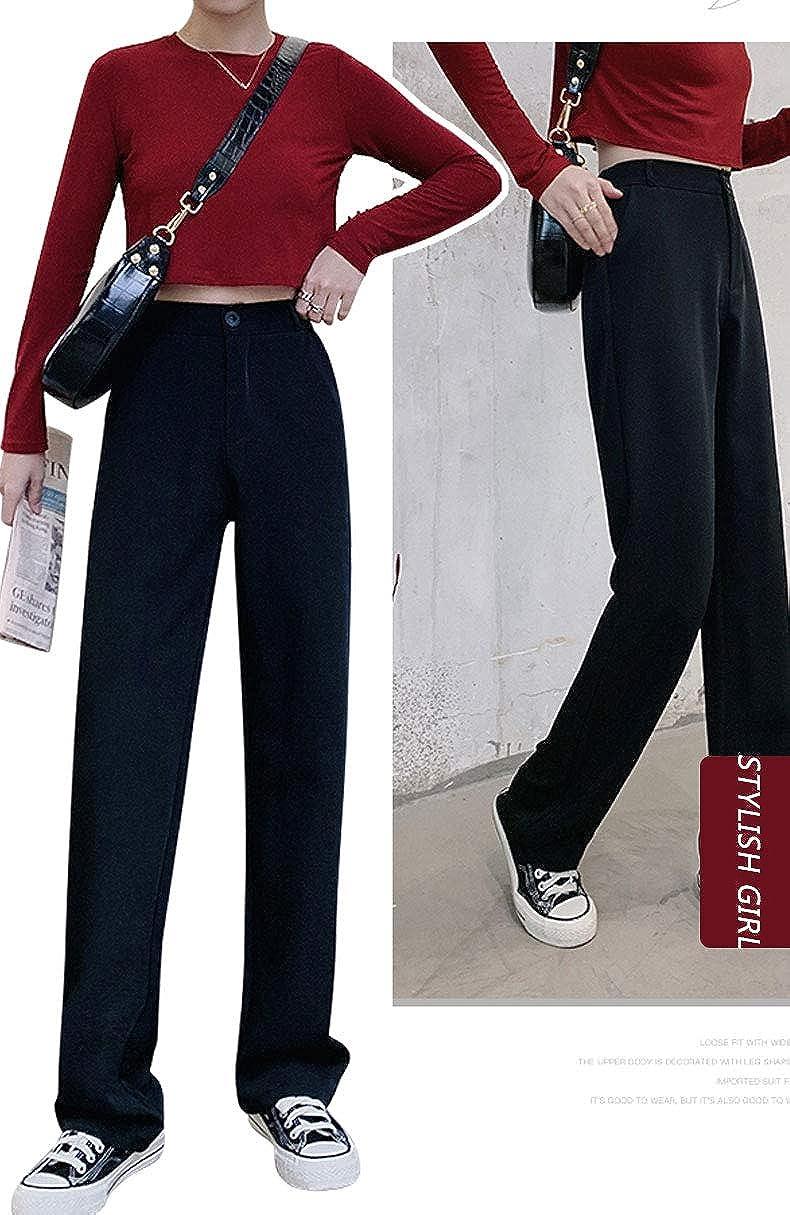 Nouveau Haut Femmes Ex m/&s Classique Pantalon Coupe Droite Taille Élastique 100/%