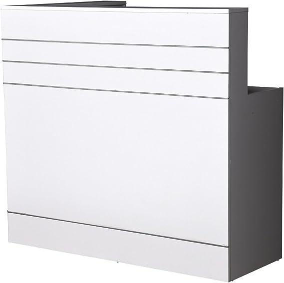 Nueva Recepción mostrador Recepción mostrador Blanco, 120 cm x 45 ...